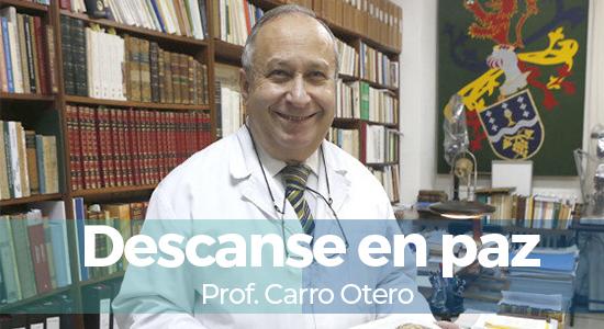 Profesor Carro Otero Fallecimiento